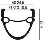 """Cerchio per Bici Elettrica 20"""" - 26"""" - 28"""" - 700c"""